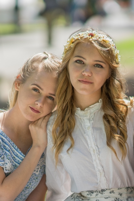 Young ladies at the HB Civil War Days, a reenactment that has been an annual affair at the Huntington Beach Central Park.